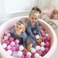 Dry pool Ball Pit with balls (200 pcs) Light Pink